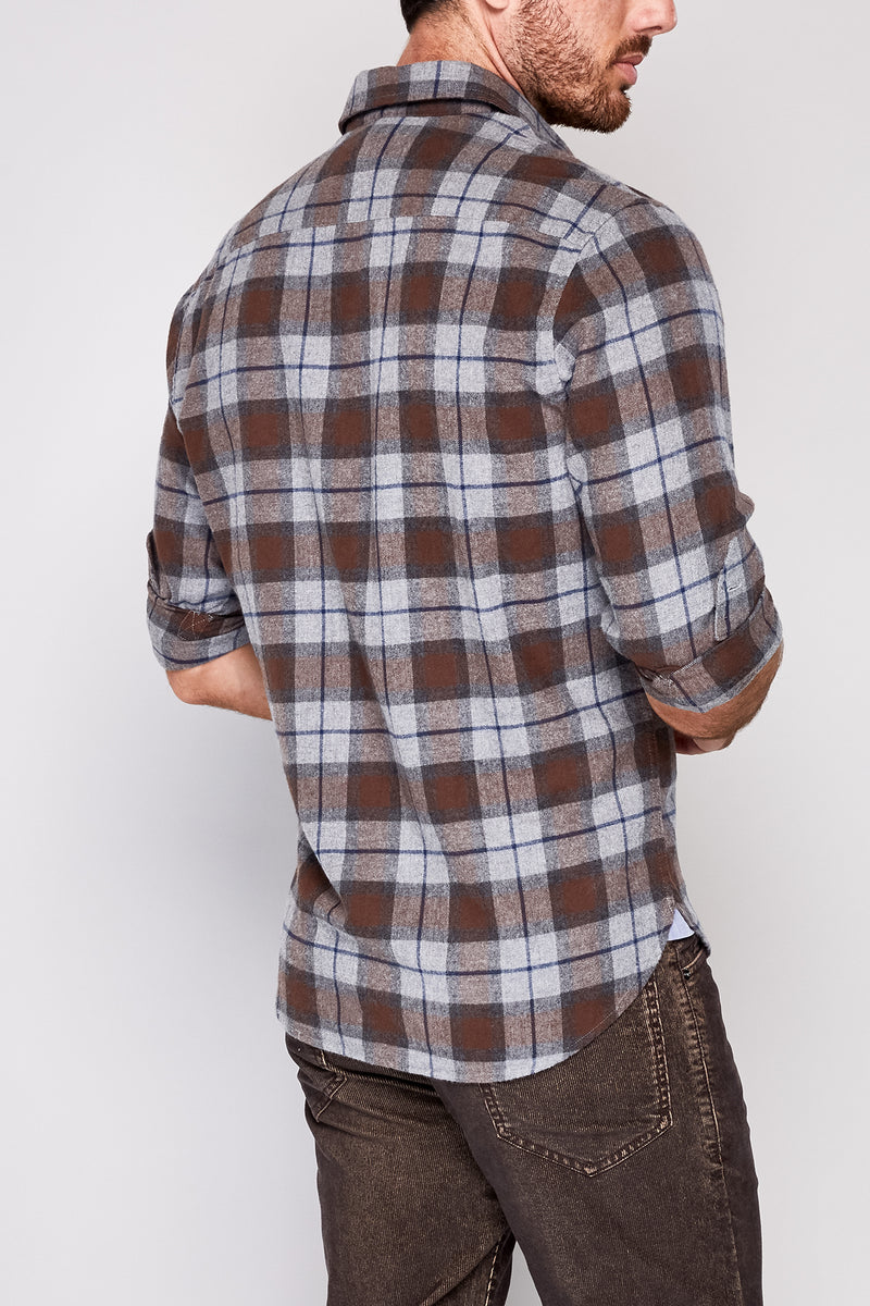 Bow LongSleeve Plaid Flannel Shirt