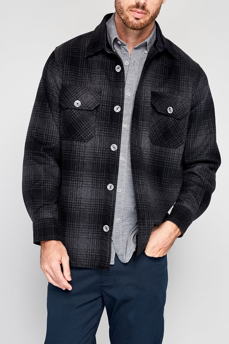 Gaff Wool Plaid 2 Pocket Shirt Jacket
