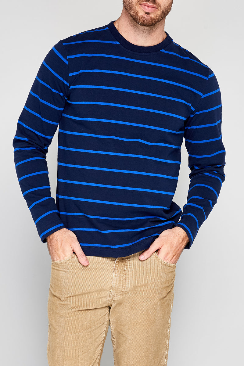 Tack Rugby Stripe Crew Neck Pullover