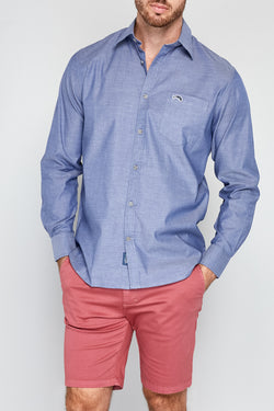CLIPPER Stretch Chambray Long Sleeve