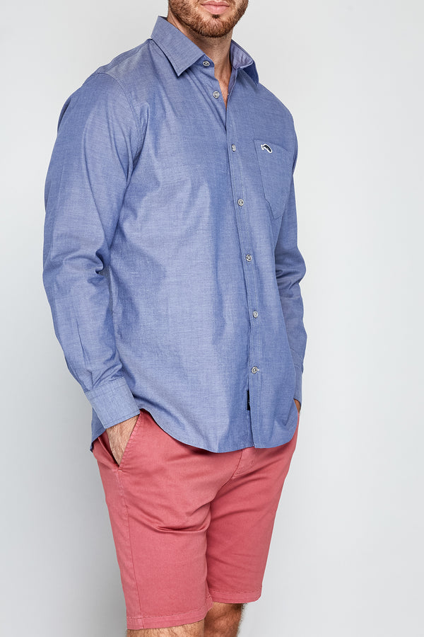 THE CLIPPER Stretch Chambray Long Sleeve