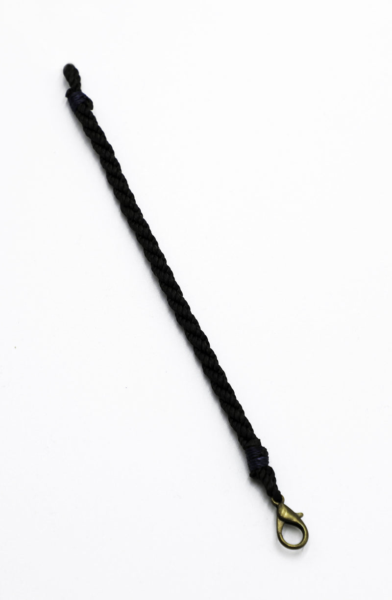 3 Strand Bracelet in Tar with Navy trim