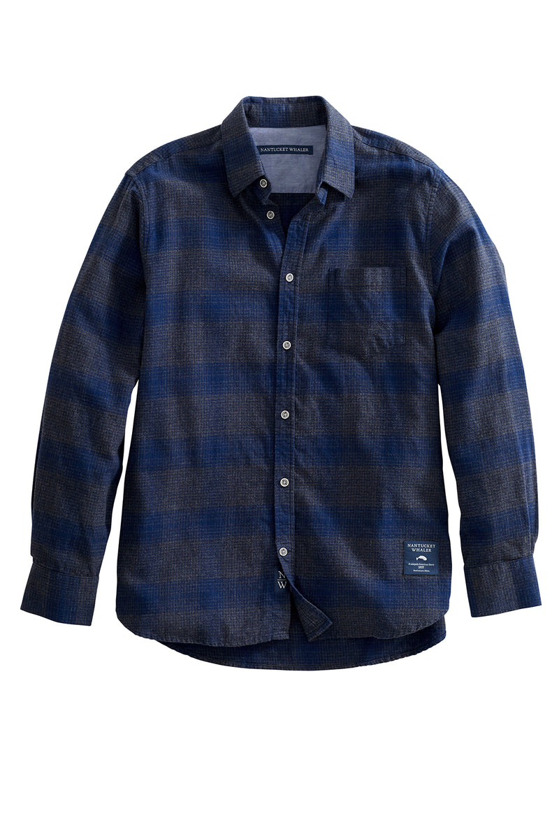 Aft LongSleeve Ombre Plaid Flannel Shirt