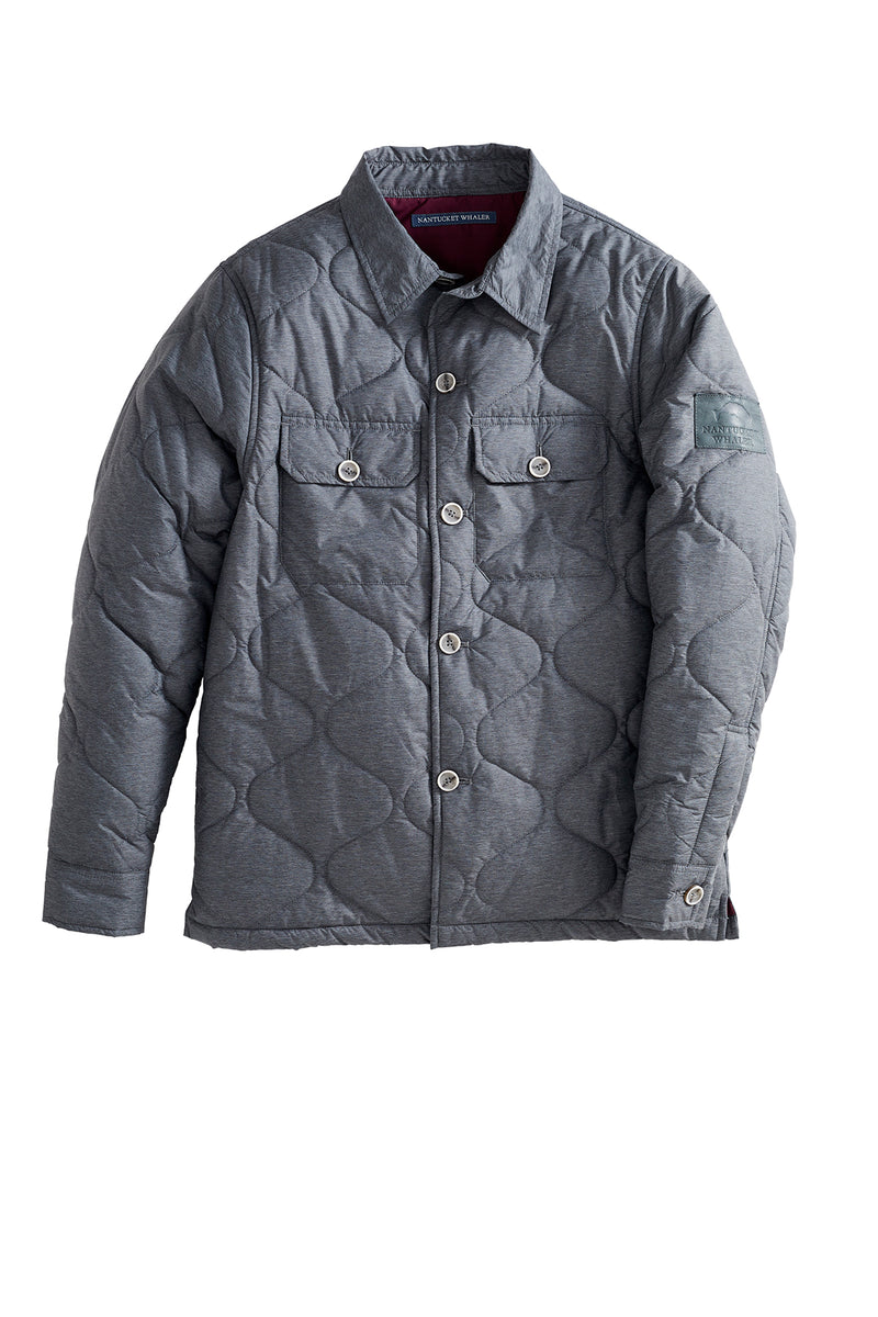 Anchor Two Pocket Quilted Shirt Jacket