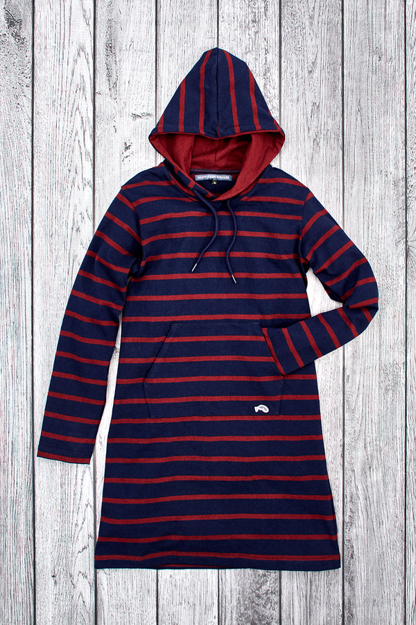 Beacon Rugby Stripe Hooded Dress