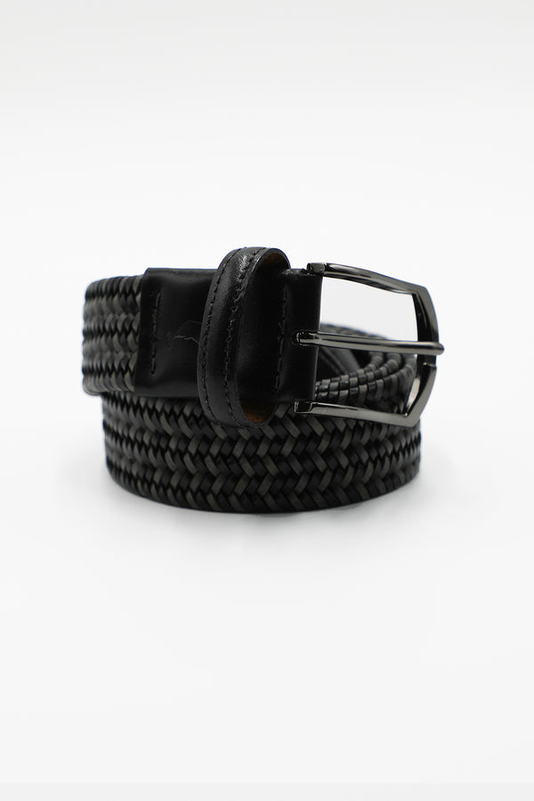 Hitch Leather Stretch Belt