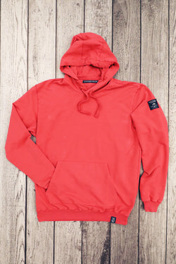 Dye Hooded Pullover Red
