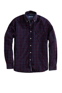 Harbour Long Sleeve Indigo Plaid Shirt