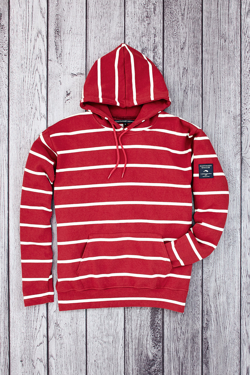 New Mariner Multi-Stripe Hooded Pullover