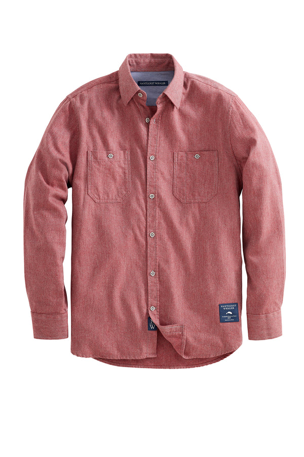 Mast Long Sleeve Twill Flannel Shirt