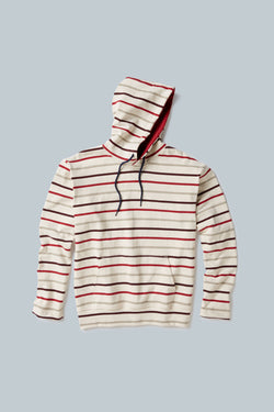 THE MARINER Multi-stripe Hooded Pullover