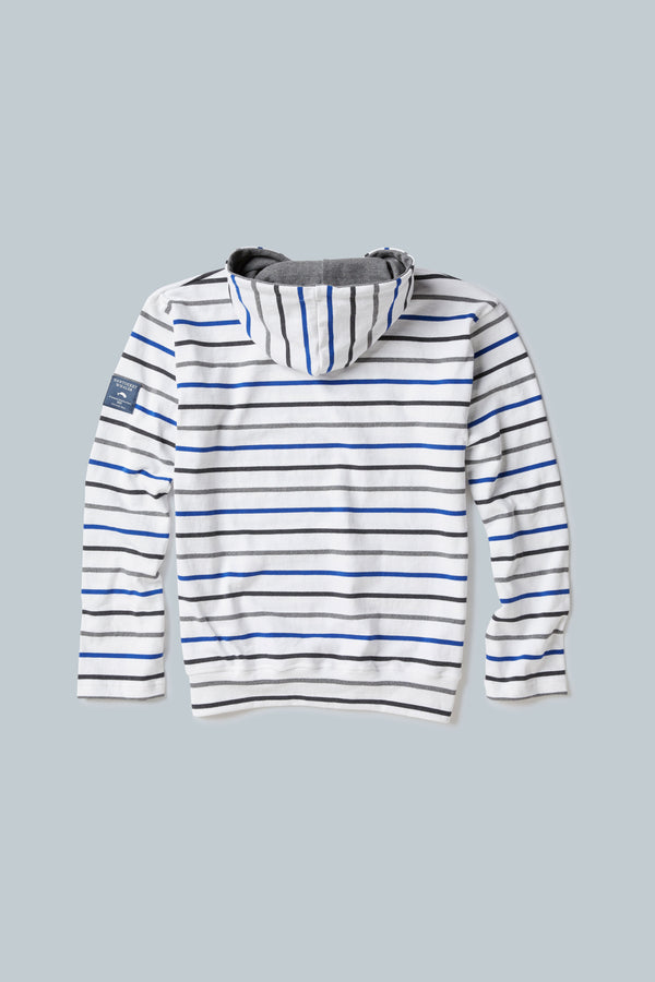 THE MARINER <BR><H6>Multi-stripe Hooded Pullover