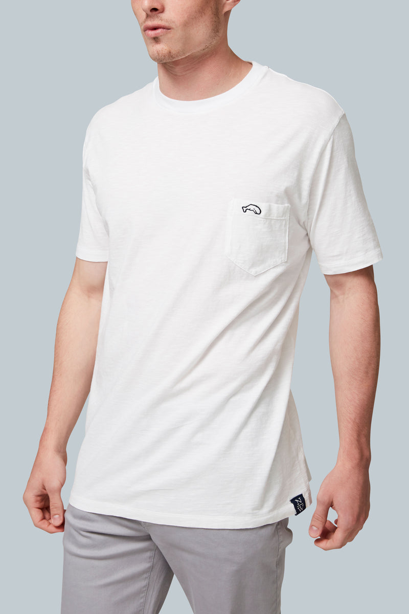THE VOYAGER Short Sleeve Salt Wash Pocket Tee
