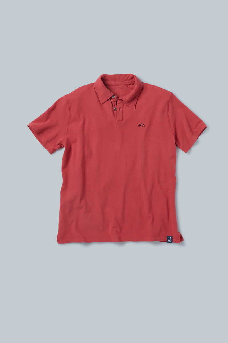 THE WINWARD <br><h6>Vintage Dyed Short Sleeve Pique Polo