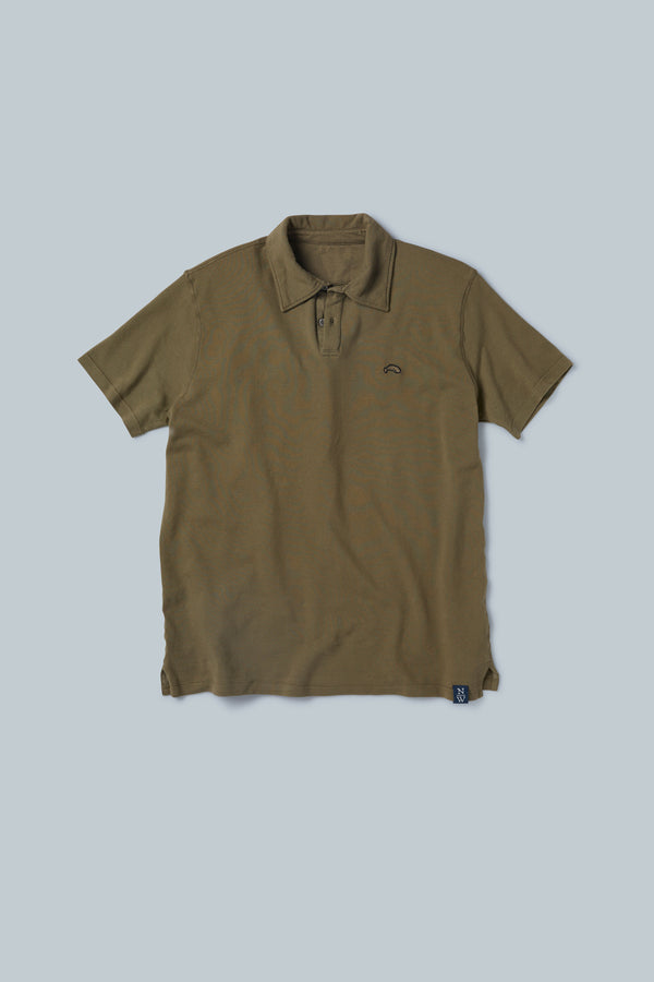 THE WINWARD Vintage Dyed Short Sleeve Pique Polo