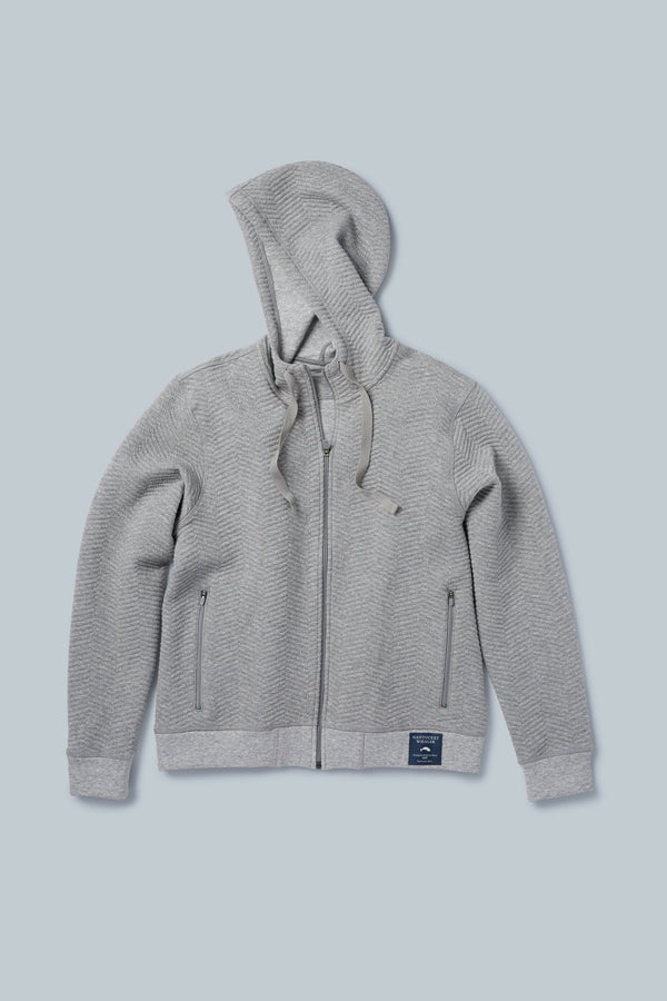 THE SNUGGER<br><h6>Unisex Knitted Herringbone Zip Front Hoodie