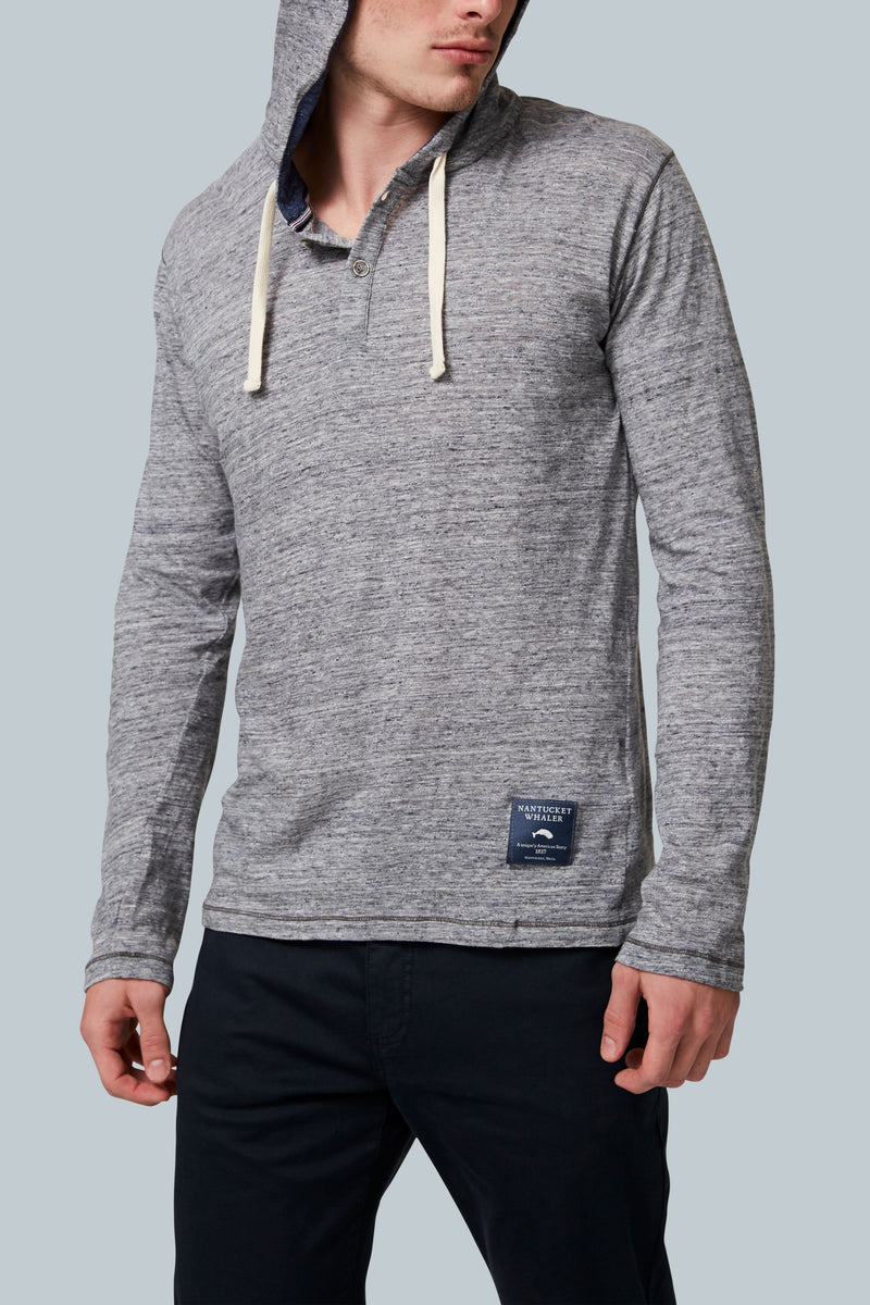 THE WILLIWAW Gradient Slub Two-Button Hoodie