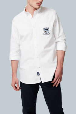 THE 1837 OXFORD <br><h6>Logo Crest Long Sleeve Oxford