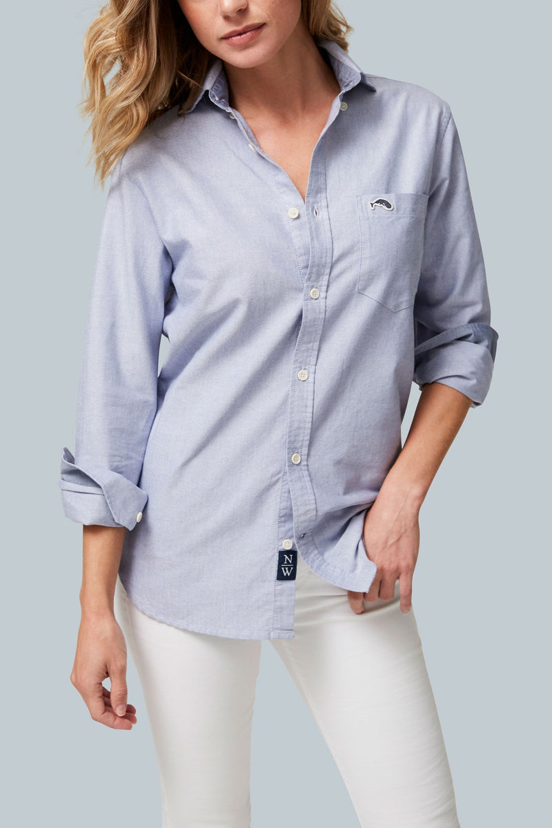 THE SCHOONER <br><h6>Unisex Multi-Wash Long Sleeve Oxford