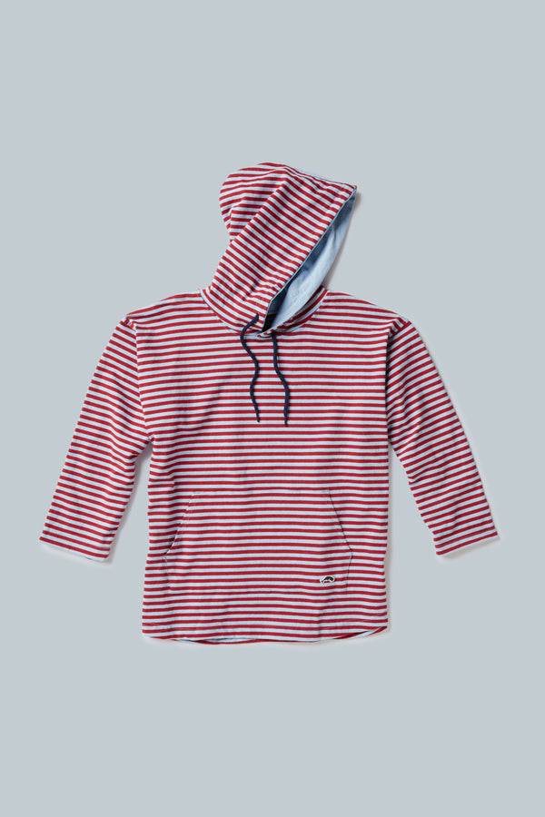 THE LADY JAK TAR 3/4 Sleeve Hooded Pull Over