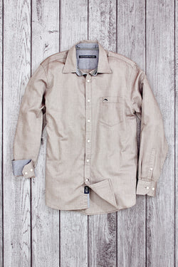Rainbow Fleet Long Sleeve Oxford Shirt Brown