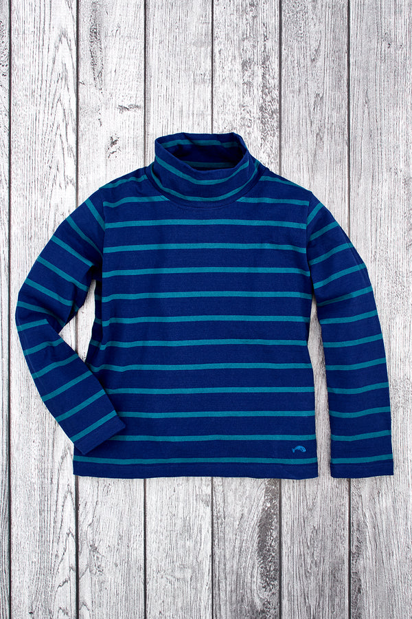 Reef Stripe Cowl Neck Pullover