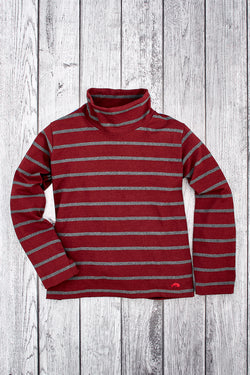 Reef Stripe Women's Cowl Neck Pullover