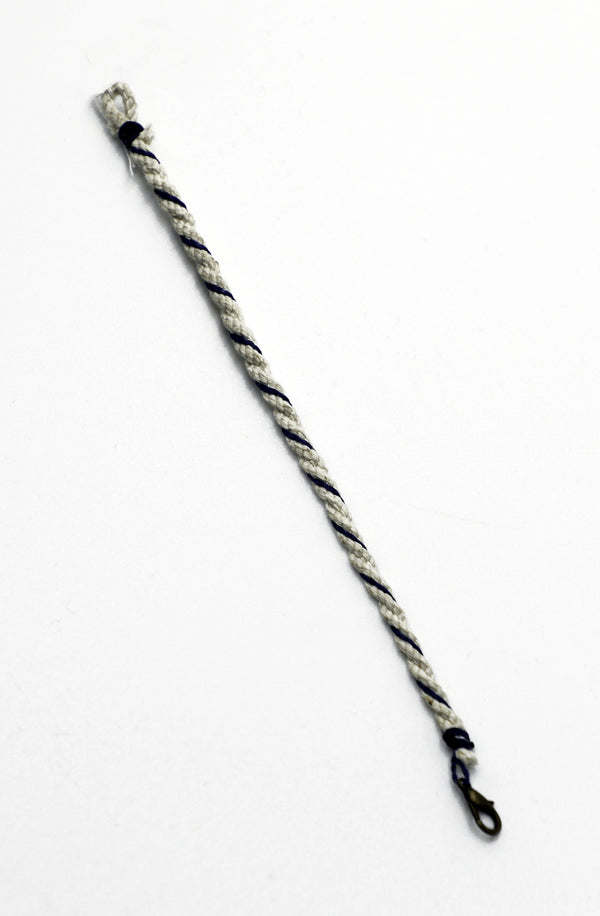 Stacker Bracelet in Natural with Navy trim