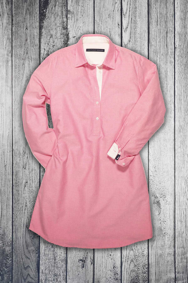 Sunset Oxford Popover Shirt Dress