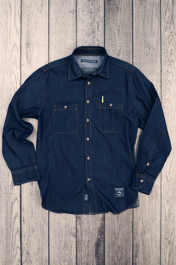 THE RIGGER Indigo Dyed Two Pocket Workshirt