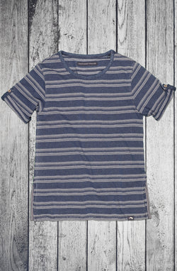 Women's Wave Short Sleeve Indigo Stripe Tee