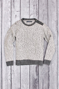 Winch Shoulder Button Slub Sweater