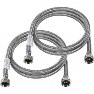 Stainless Steel Washing Machine Hoses 2 Pack