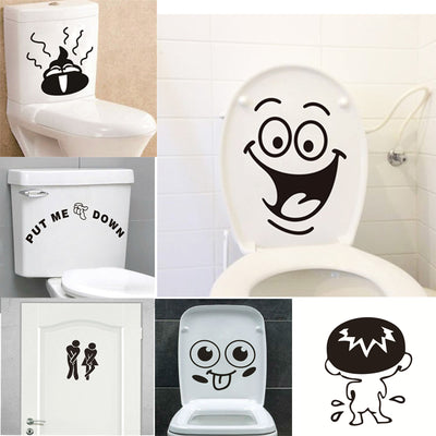 funny waterproof toilet stickers