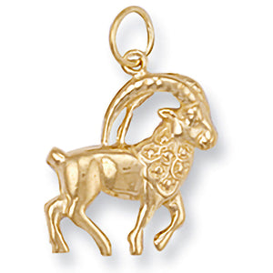 Capricorn Zodiac Necklace in 9ct Gold - Sparkly Dolls