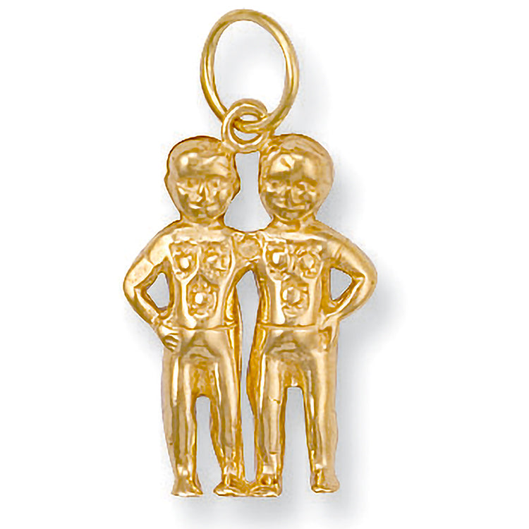 Gemini Zodiac Necklace in 9ct Gold - Sparkly Dolls
