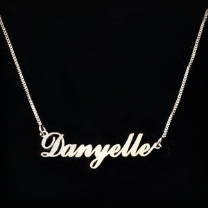 Sterling Silver Classic Name Necklace - Sparkly Dolls