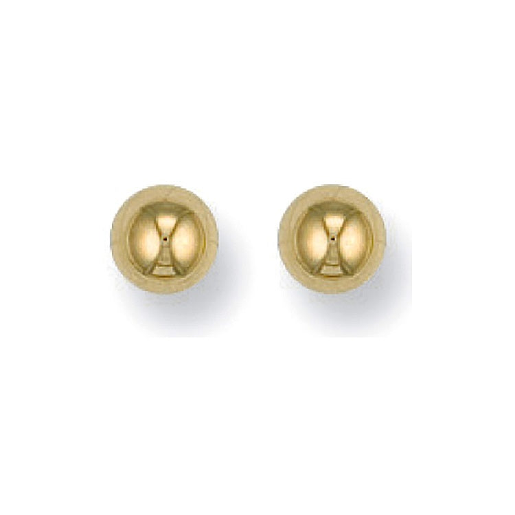 9ct Yellow Gold 5mm Ball Studs - Sparkly Dolls