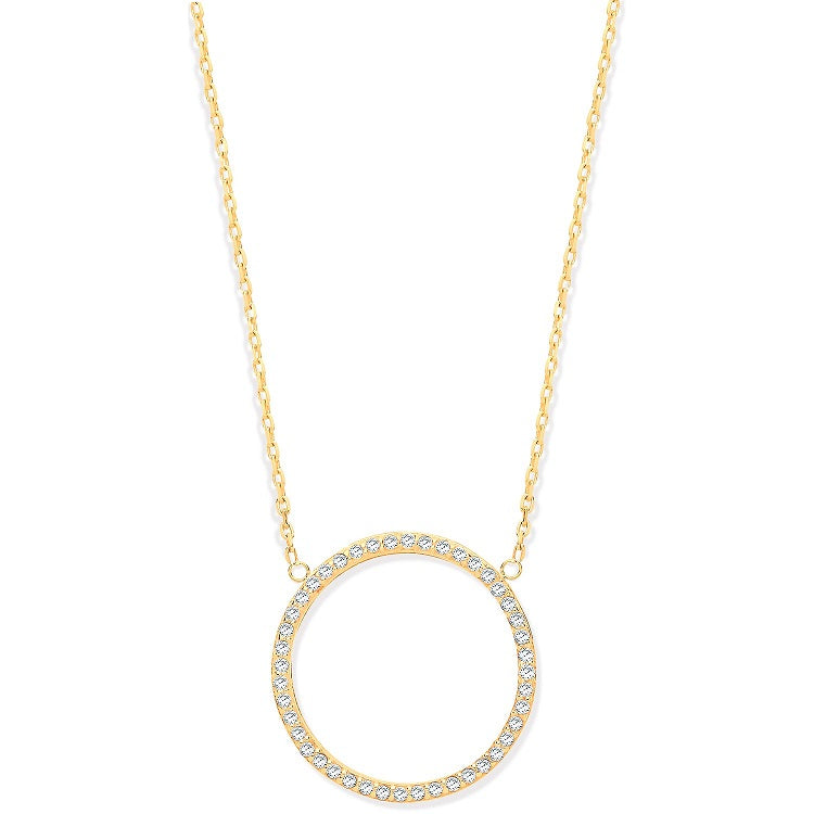 circle of life pendant necklace gold