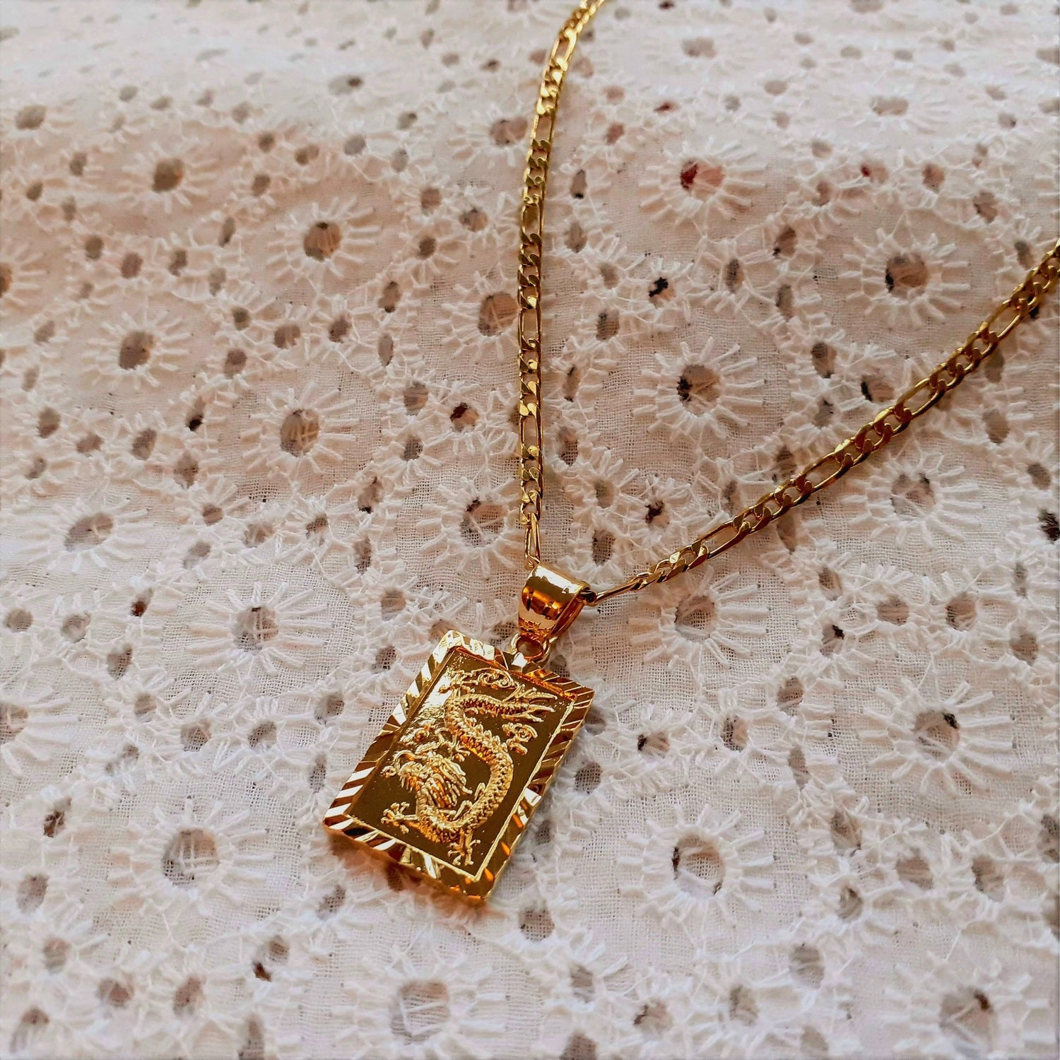 Golden Dragon Necklace - Sparkly Dolls