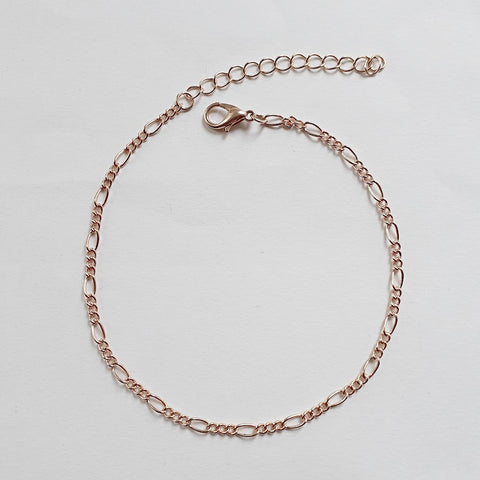 9ct solid gold figaro chain
