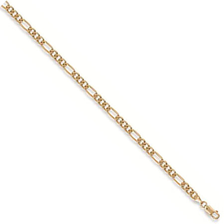 Chunky Figaro Anklet in 9ct Yellow Gold - Sparkly Dolls