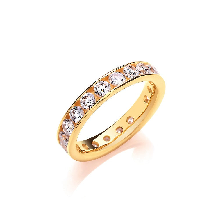 Gold Vermeil Full Eternity Ring 4mm - Sparkly Dolls