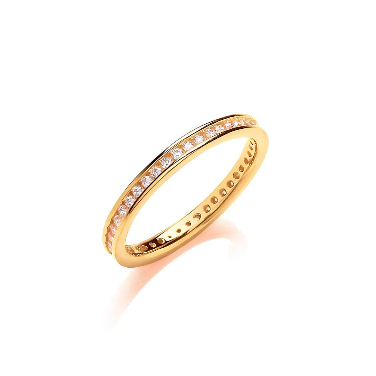 Gold Vermeil Full Eternity Ring 2mm - Sparkly Dolls