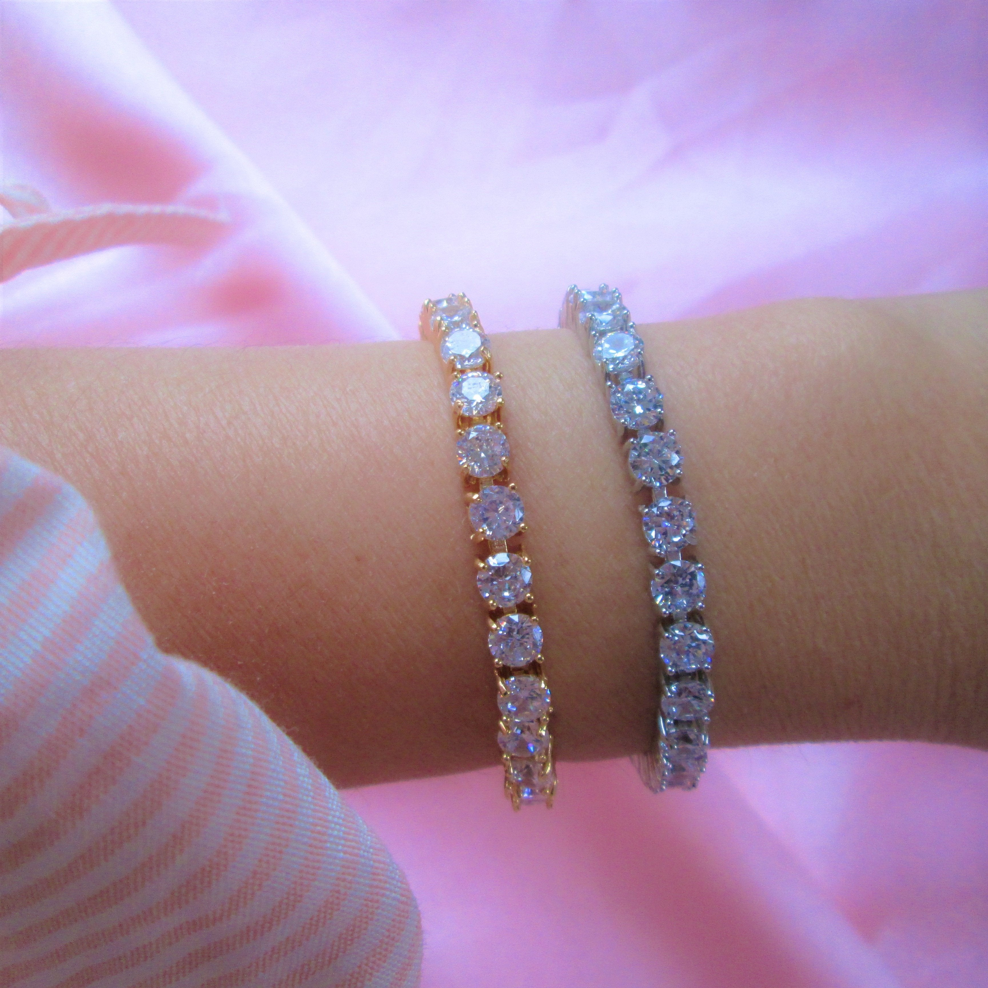 icy bracelets gold and silver