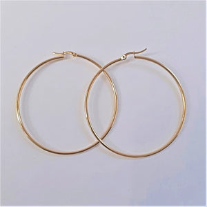 Earrings Hoops 60mm - Sparkly Dolls