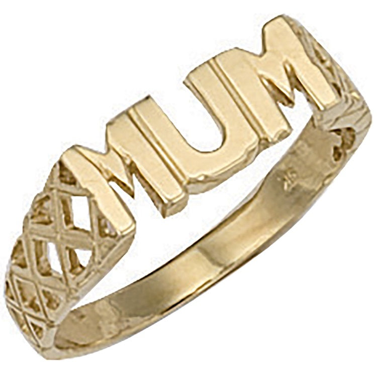 Mum Ring in 9ct Yellow Gold - Sparkly Dolls