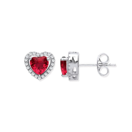 Red CZ Diamond Heart Jewellery Set - Sparkly Dolls