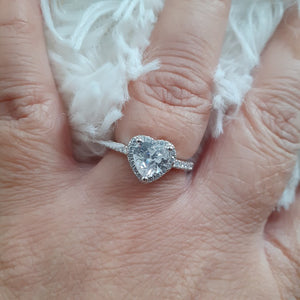 Heartbeat Sterling Silver Ring - Sparkly Dolls