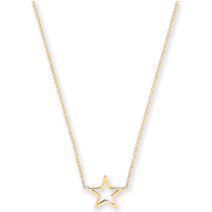 pure gold star necklace